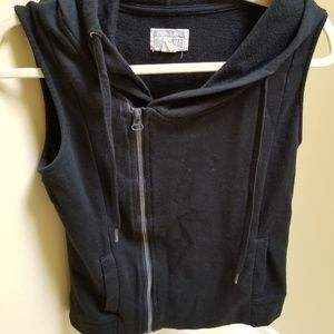 Converse Moto Style Hooded Vest Size Small Black